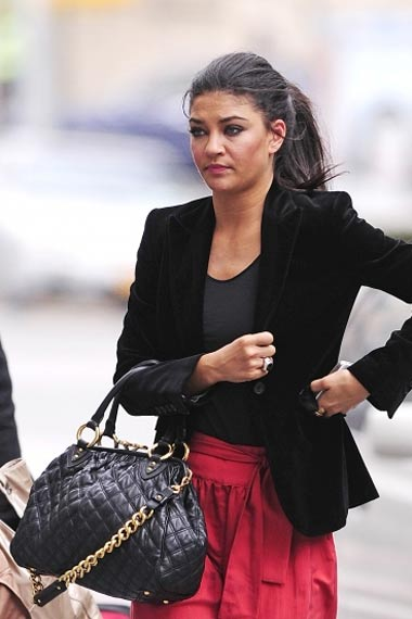 Jessica Szohr Rocks Red Hotpants