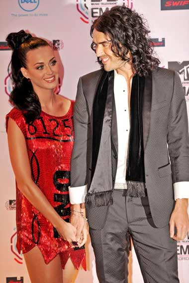 Katy Perry with hubby Russel Brand