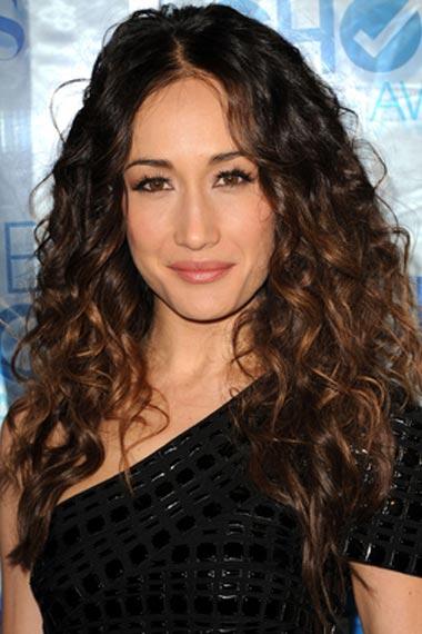 Maggie Q Beachy Hairstyle