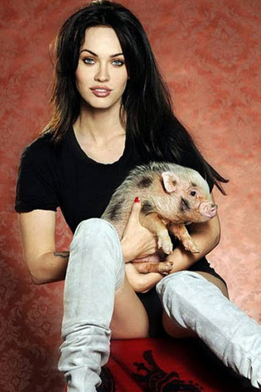 megan-fox-with-pig-piggy-smolls