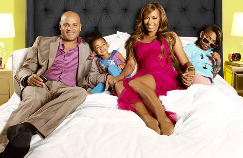 Mel B and Stephen Belafonte with Family