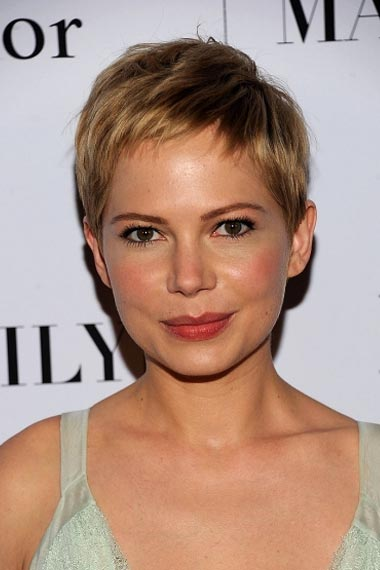 Michelle Williams  Glamorous Pixie cut Hairstyle