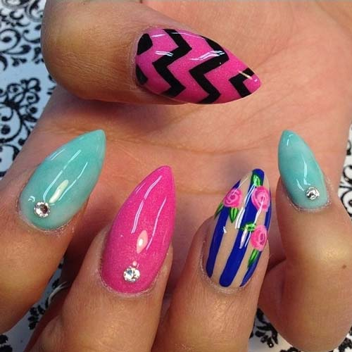 Fantabulous Pointed Nail Art 10