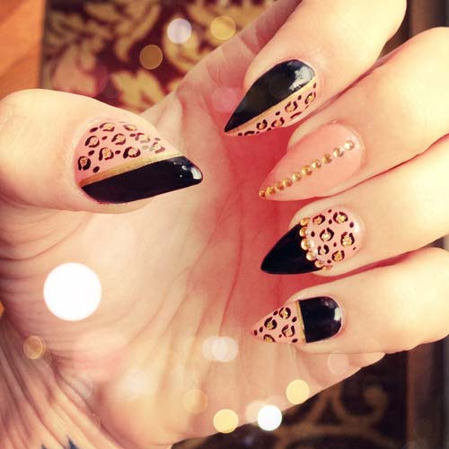 Fantabulous Pointed Nail Art 6
