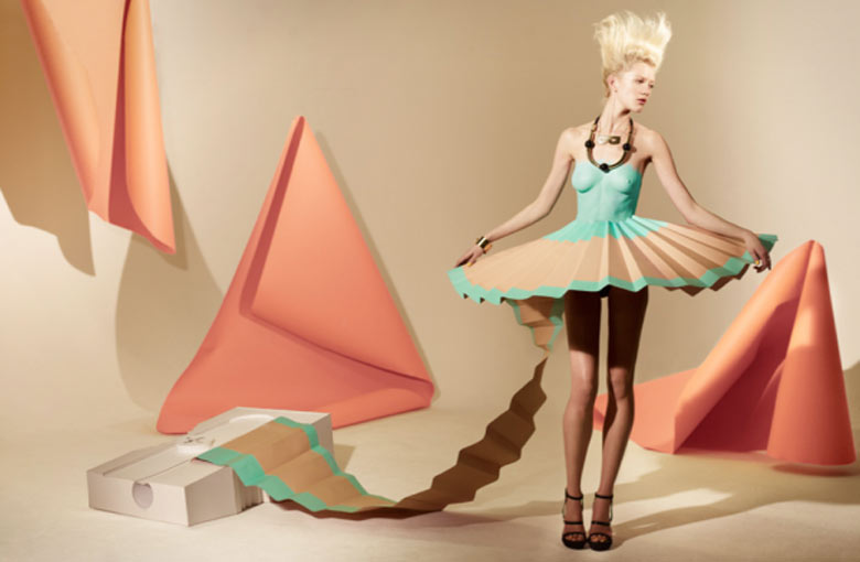 Paper Dresses by Mathew Brodie for Madame Magazine