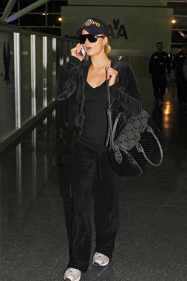 Paris Hilton At JKF Airport