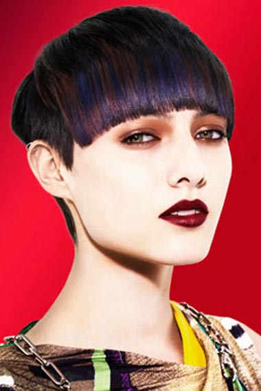Fall 2012 is all about Purple hair highlights