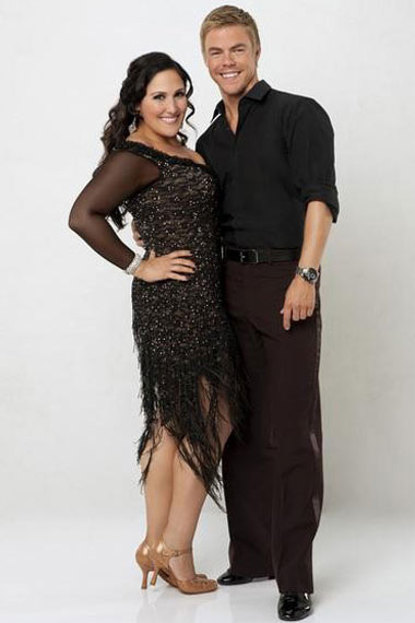 Ricki Lake and Derek Hough for Dancing with the Stars