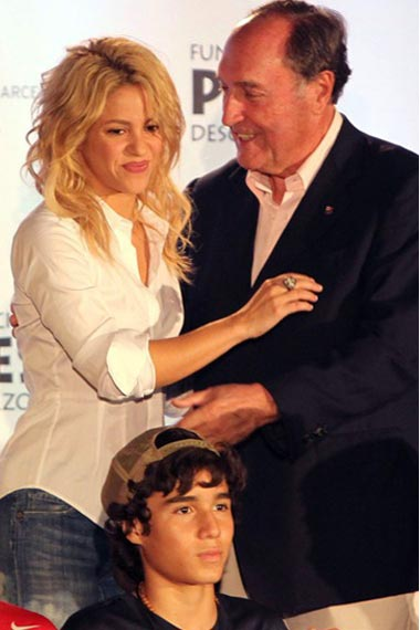 Shakira unveiling Soccer for Youth Development