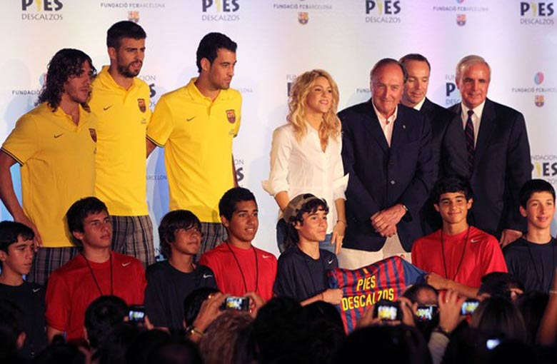 Shakira along with others