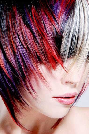 Short Layered Hair Highlights