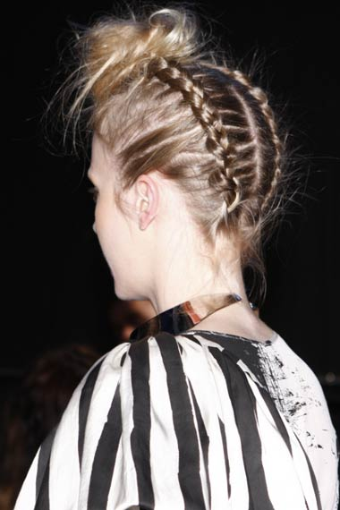 Braided Topknot Hairstyle