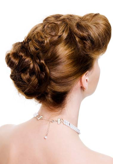 Beautiful Braided Updo Hairstyle for Wedding