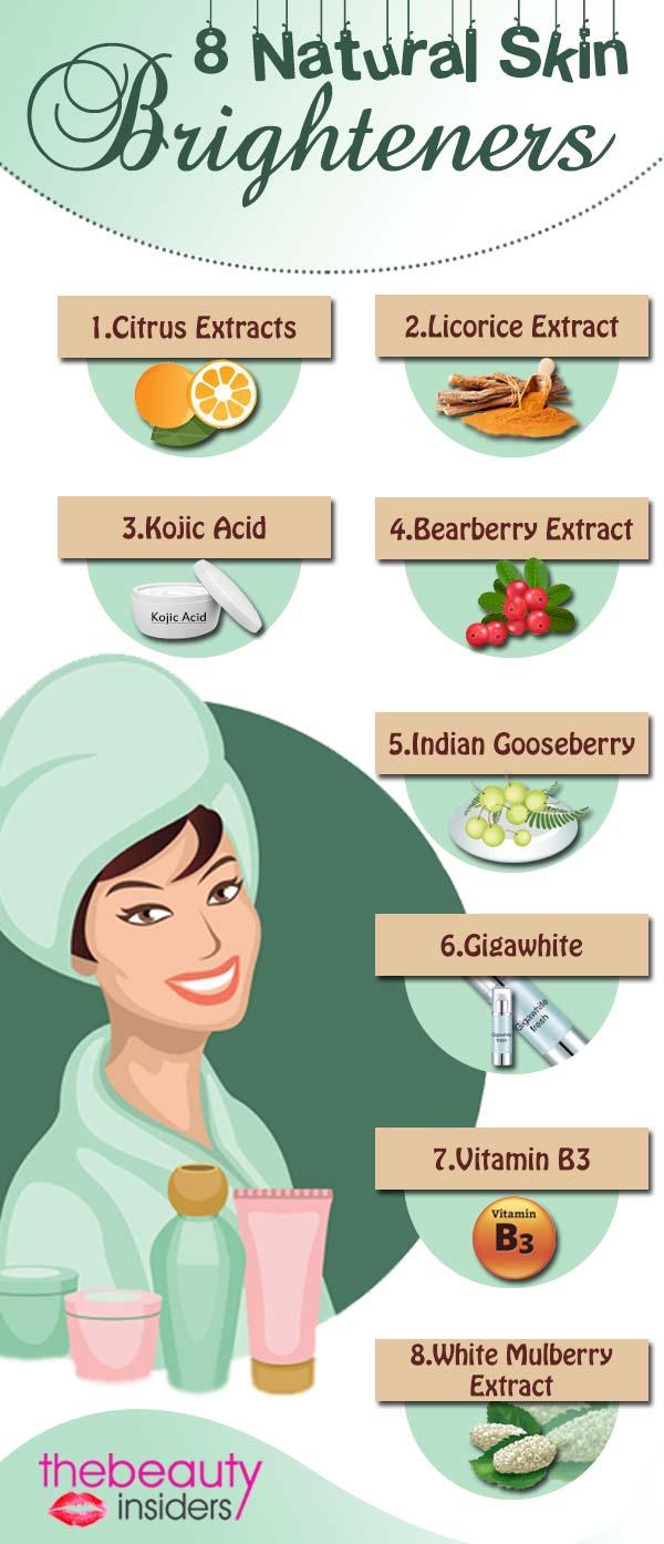 8 Natural Skin Brighteners