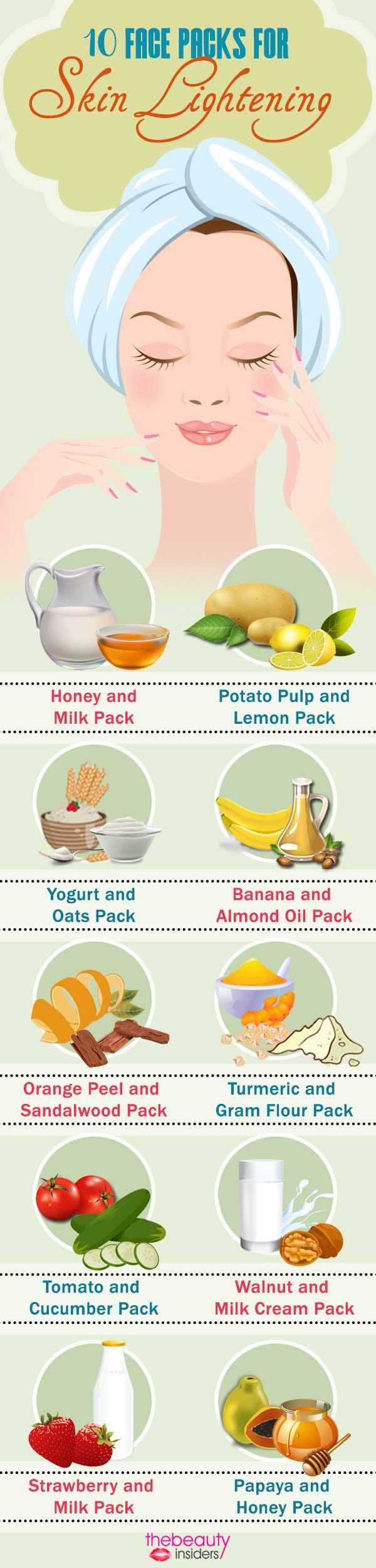 10 Face Packs For Skin Lightening