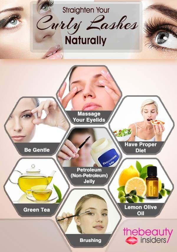 Straightening Eyelashes Info