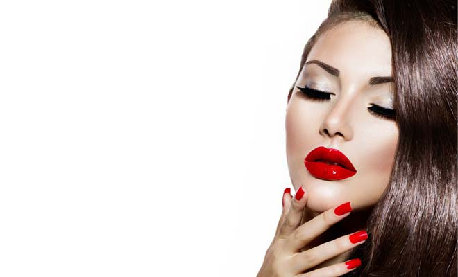 Christmas Party Red Lip Make Up Ideas