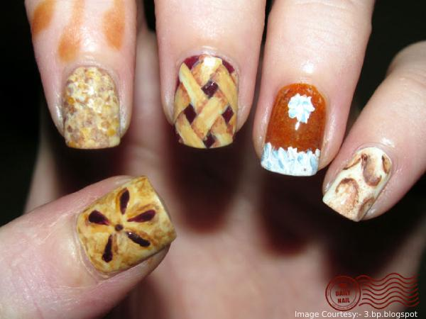 Holiday Pies Thanksgiving Nail Art