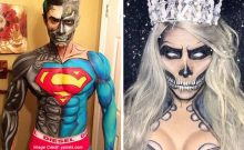Living Comic Book Art Makeup by Argenis Pinal