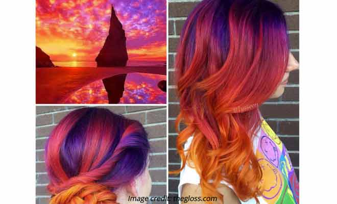 Sunset Hair Color Used