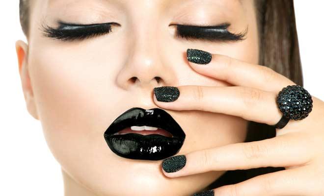 Apply Black Lipstick