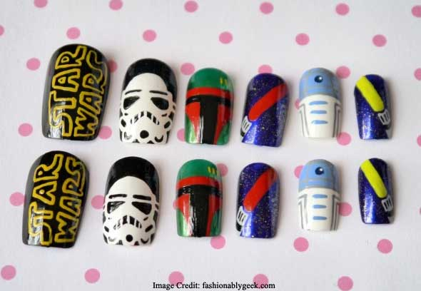 Star Wars Labelled Nail Art
