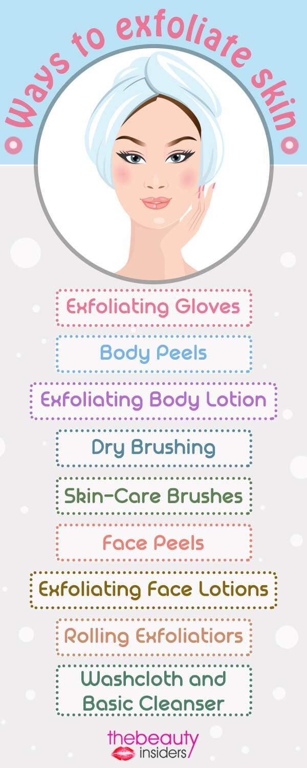 Ways To Exfoliate Skin