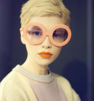 Round Circle Pastel Frame Oversized Sunglasses