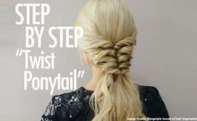 Twist Ponytail Tutorial by Kiley Potter