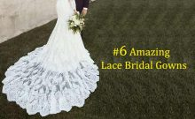 Lace Bridal Wear Gowns – The White & Black Theme