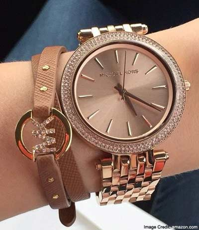 Michael Kors Women's Slim Runway Rose Gold-Tone Watch