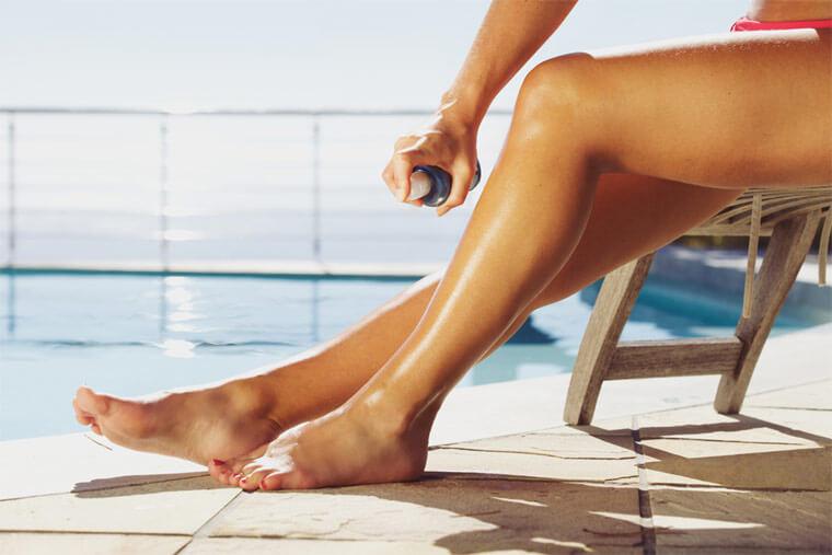 Not Spreading Sunscreen Spray
