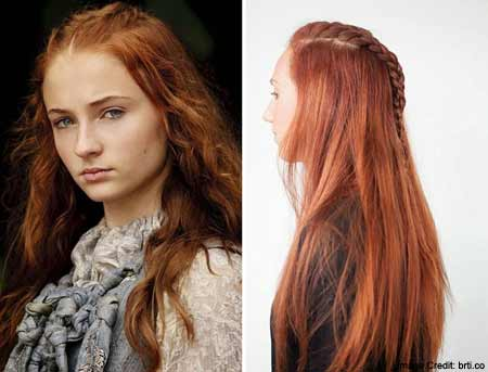 Sansa Starks Messy Dual French BraidTwist