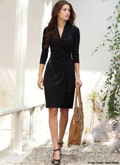 An Easy Black Wrap Dress