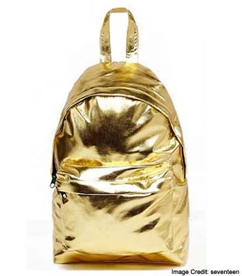 Metallic Mini Backpack
