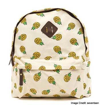 Pineapple Print Backpack