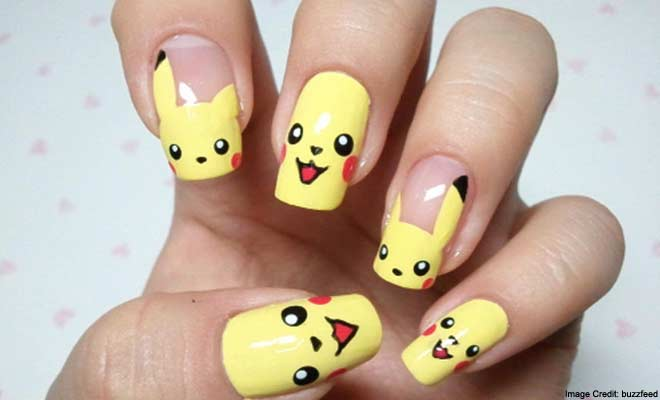 Pokémon Go characters Nail art & Style ideas