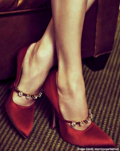 Satin Evening Shoes