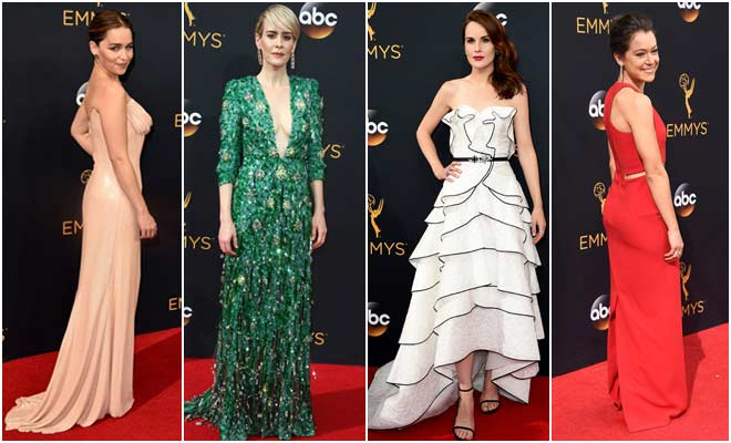 Best Dressed Celebrities on Emmys Red Carpet