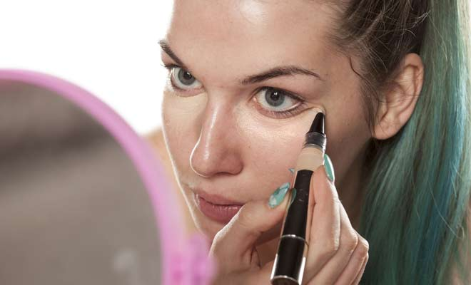 Use your Concealer to Prime your T-Zone, Eyelids and Lips