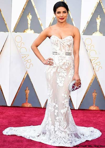 1. All White, Floral Gown at the Oscars