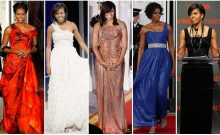 7 Stunning Gowns Worn By Michelle Obama During the State Dinner