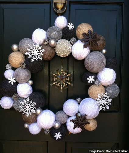 Wreath Made Of Christmas Balls