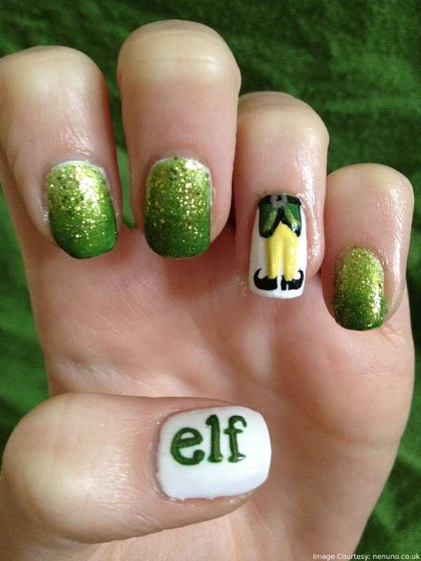 Christmas Elf Nail Art