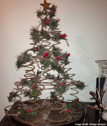 Coiled Wire For Christmas Tree