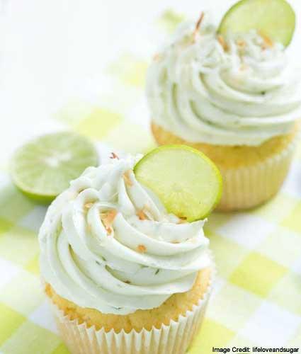Lemony Christmas Cupcakes