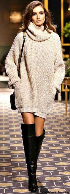 Oversized Knit Dresses