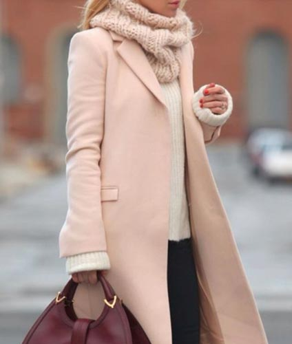 Peachy Pink Trench Coat1