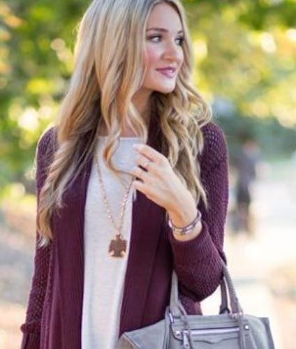 Purple Cardigan1