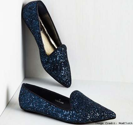 Glittered Pointed Flats